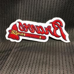 1990'S ATLANTA BRAVES TOMAHAWK  2X5 Jersey Sleeve Patch MLB