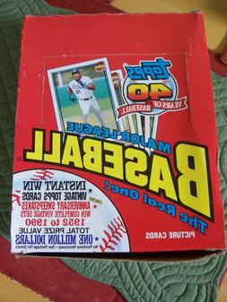 1991 topps basball rack pack box 24