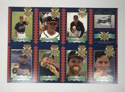 1993 Nutrition Edition Atlanta Braves Uncut Ticket Sheet