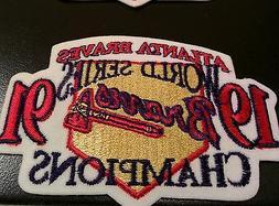 2  World Series Champions 1991 Patch Jersey Sleeve Atlanta B
