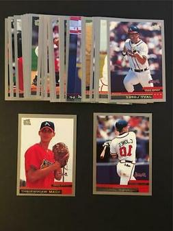 2000 Topps Atlanta Braves Team Set With Traded 28 Cards Adam