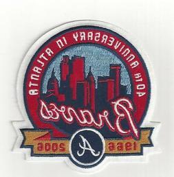 2006 Atlanta Braves 40th Anniversary in Atlanta Sleeve Patch