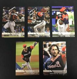 2018 Topps NOW MLB PW Player's Weekend Atlanta Braves 5-Card