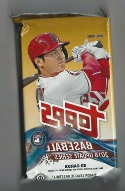 2018 Topps Update Baseball Hobby HTA/Jumbo Pack - Box Fresh-