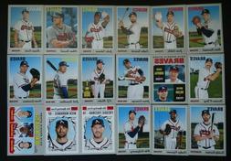 2019 Topps Heritage Atlanta Braves Base Team Set 18 Baseball