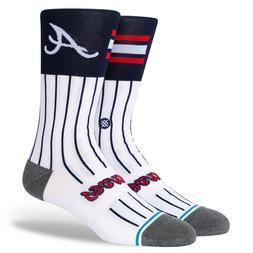 2020 Atlanta Braves Stance MLB ATL Color Diamond Socks Large
