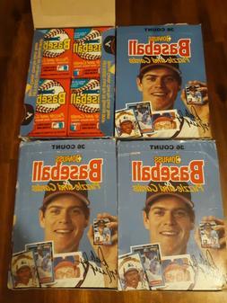 4 1988 Donruss Baseball Boxes 36 Unopened Wax Packs Per Box