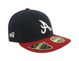 New Era 59Fifty Mens MLB Cap Atlanta Braves Low Profile Navy