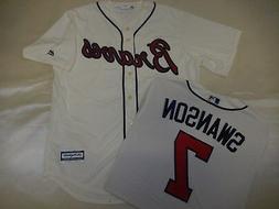 9601-7 MAJESTIC Atlanta Braves DANSBY SWANSON Baseball Cool