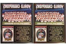 Atlanta Braves 1995 World Series Champions Photo Card Plaque