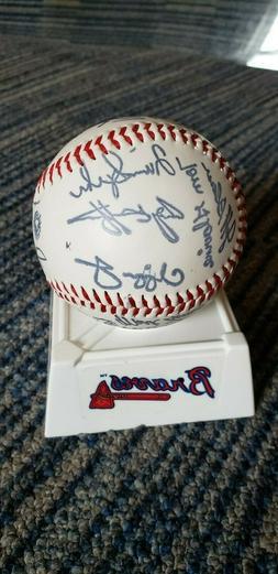Atlanta Braves 1997 Team Signed Facsimile Baseball Glavine S