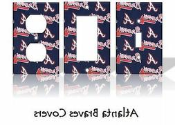 Atlanta Braves #2 Light Switch Covers Baseball MLB Home Deco