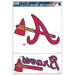 "Atlanta Braves 2 Piece 11""x17"" Ultra Decal Sheet IN STOCK!"