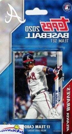Atlanta Braves 2020 Topps Limited Edition 17 Card Team Set -