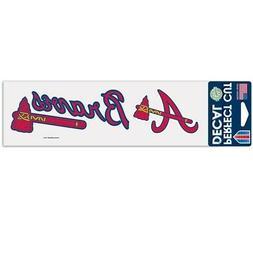 "Atlanta Braves 3""x10"" Perfect Cut Decal  MLB Auto Car Emblem"