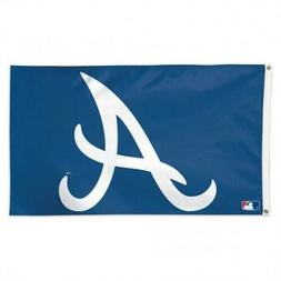 Atlanta Braves 3x5 Flag Deluxe Banner MLB Baseball Single Si
