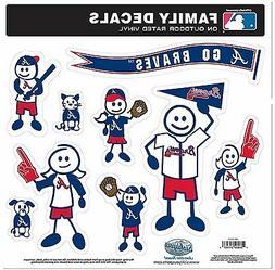 Atlanta Braves 9 Piece Jumbo Family Decals  Auto Car Sticker