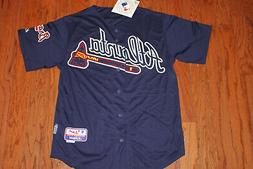 Atlanta Braves Alternate Navy Jersey w/Tags  Size M