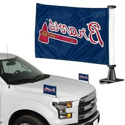 Atlanta Braves Ambassador Car Flag 2 Piece Set  MLB Banner S