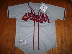 Atlanta Braves Away Gray Jersey w/Tags  Size XL