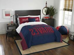 Atlanta Braves Bedding Full/Queen Comforter & Shams Set OFFI