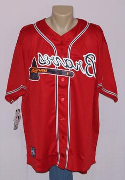Atlanta Braves Majestic Big & Tall Replica Jersey Red XLT
