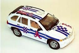 Atlanta Braves BMW X5  Fleer 1:24 Diecast Collectible Baseba