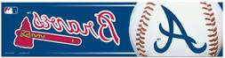 Atlanta Braves Bumper Sticker NEW!! 3x11 Inches Free Shippin