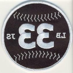 Atlanta Braves Burdette Sain #33 Memorial Sleeve Jersey Patc