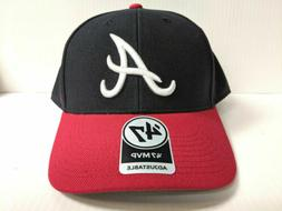 Atlanta Braves 47 Brand Cap Adjustable MVP Hook & Loop 2 Ton