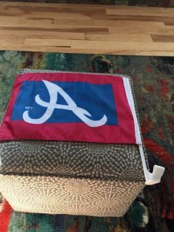 Atlanta Braves car window flag vehicle baseball personal tea