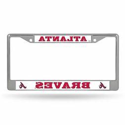 Atlanta Braves Chrome License Plate Frame Tag Cover Car/Auto