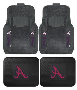Atlanta Braves Deluxe Auto Floor Mats - Car, Truck, SUV