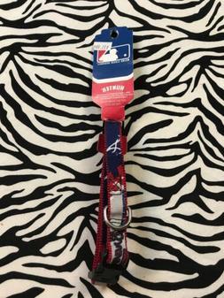Atlanta Braves DOG PET COLLAR NYLON Small NWT HUNTER NEW LOG