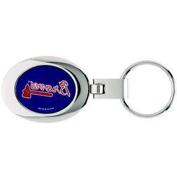 Atlanta Braves Domed Metal Keychain MLB Keyring New