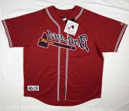 Majestic Atlanta Braves Edgar Renteria Mens 2XL Red Sewn Mlb