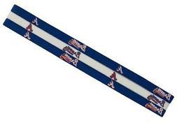 Atlanta Braves Elastic Headband 3 Pack  NFL Hair Tie Head Ba