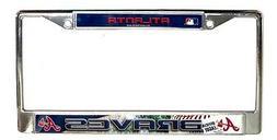 Atlanta Braves Field Design LBL Chrome Frame Metal License P