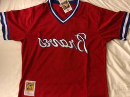Atlanta Braves Freddie Freeman #5 Jersey Red Cooperstown Col