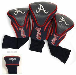 Atlanta Braves Golf Club 3 Piece Headcover Set  MLB Head Cov