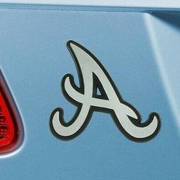 Atlanta Braves Heavy Duty Metal 3-D Chrome Auto Emblem