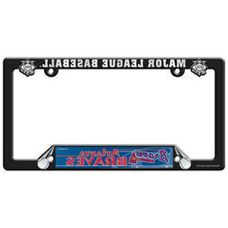 atlanta braves license plate frame black mlb
