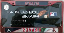 Atlanta Braves License Plate Frame MLB Rico Industries Red N