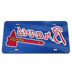 Atlanta Braves License Plate Mirrored Acrylic