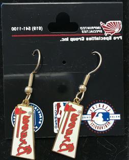 atlanta braves logo j hook earrings new