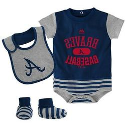 atlanta braves majestic newborn navy baseball property