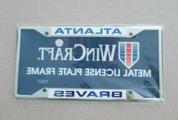 "WinCraft ""Atlanta Braves"" Metal License Plate Frame MLB NEW!"