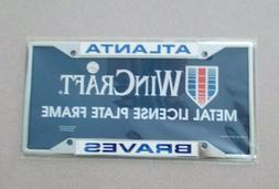 "WinCraft ""Atlanta Braves"" Metal License Plate Frame MLB NEW!"