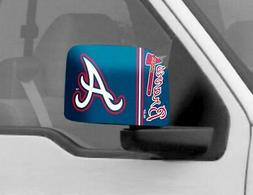 Atlanta Braves Mirror Cover 2 Pack - Large Size  MLB Car Aut