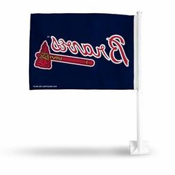 Atlanta Braves MLB 11X14 Window Mount 2-Sided Car Flag